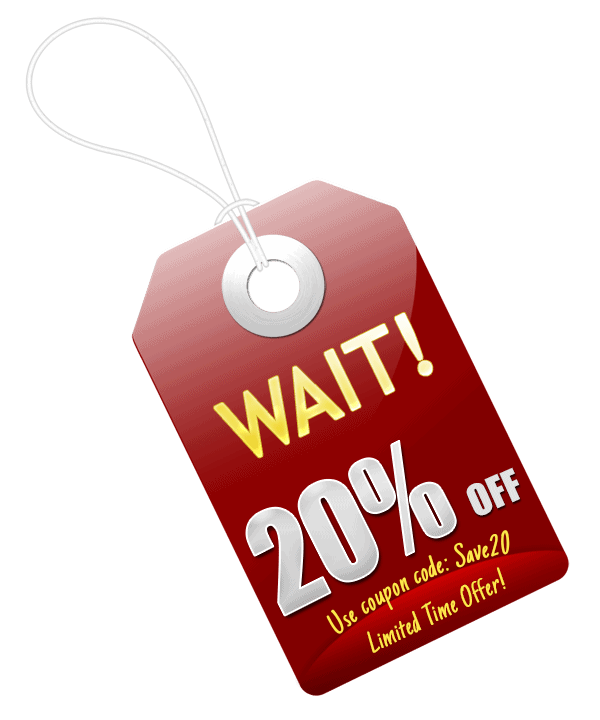 20% Off Red Tag