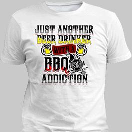 BBQ White T-Shirt