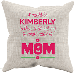Favorite Name Mom Personalized Pillowcase Cream