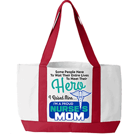 Hero Nurse Tote Bag White Red