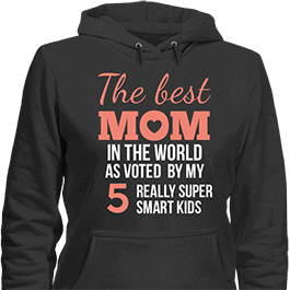 Personalized Voted the Best Mom Hoodie Black