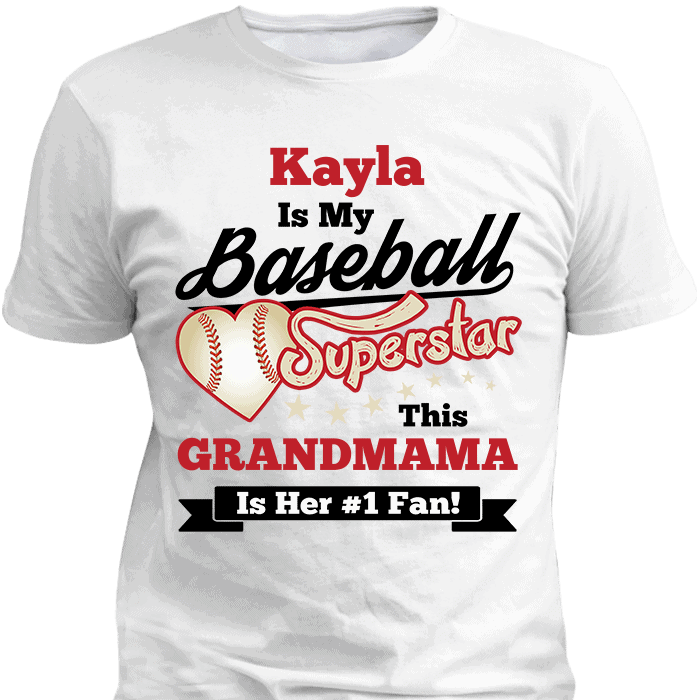 Baseball Superstar T-Shirt White T-ShirtsHoodies.com