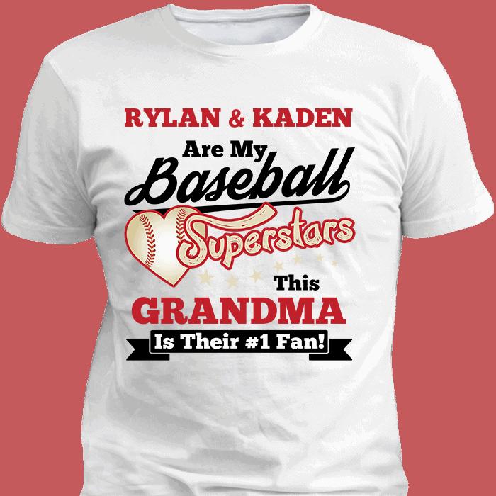Baseball Superstars White T-Shirt