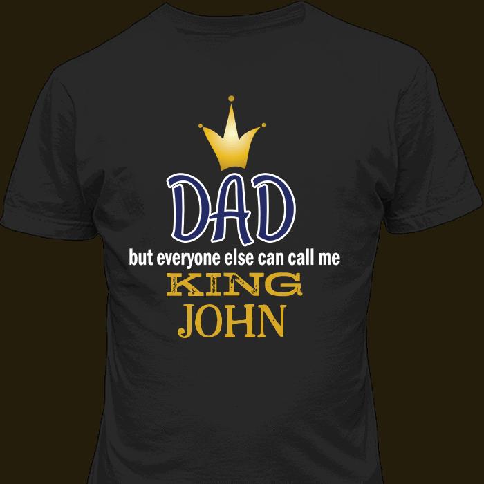 King Dad Black T-Shirt