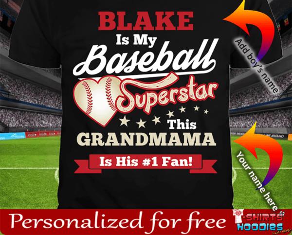 Baseball Superstar Boys T-Shirt Black