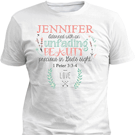 Personalized Adorned Beauty White T-Shirt