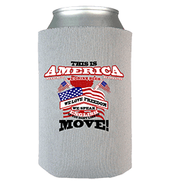 America Can Wrap Grey Custom Printed