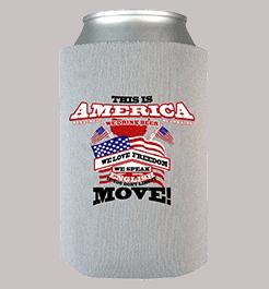 America Can Wrap Grey Custom Printed