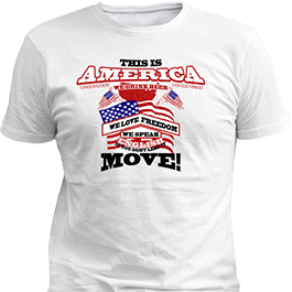 America T-Shirt White