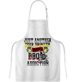 BBQ Custom Printed White Apron