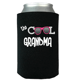 Cool Grandma Personalized Can Wrap Black