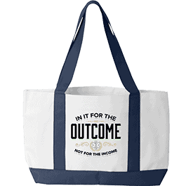 EMT Tote Bag White Blue