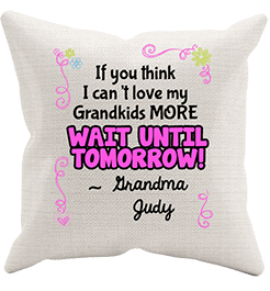 Love My Grand Kids Personalized Pillowcase Cream