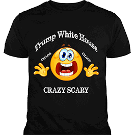 Trump White House Chaos Crazy Scary T-Shirt Black