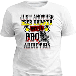 BBQ Custom Printed T-Shirt White