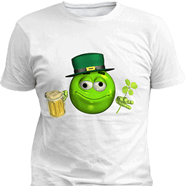 Leprechaun Emoticon Emoji with Beer T-Shirt White