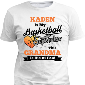 Basketball Superstar Boys White T-Shirt
