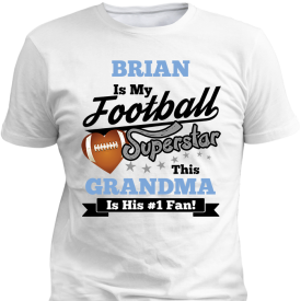 Football Superstar Boys White T-Shirt
