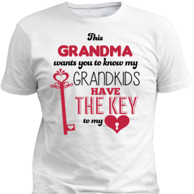 Grandkids Have The Key to My Hart White T-Shirt