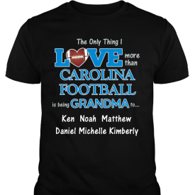 Love Carolina Football Personalized Custom Printed Black T-shirts