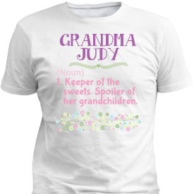 Personalized Grandma Definition White T-Shirt