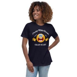 Trump White House Chaos Lies Crazy Scary Mug T-Shirt Black Mockup