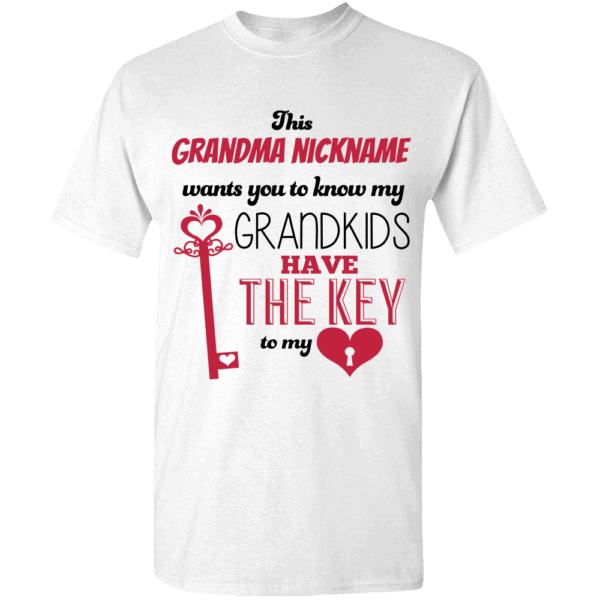 Key To My Heart – Personalized Custom Printed T-shirt Designs