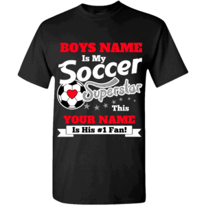 Personalized Custom Printed Boys Soccer Superstar T-Shirt
