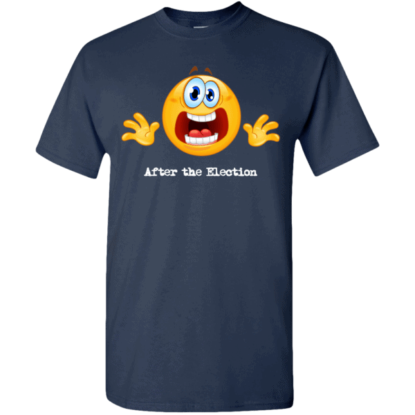 Custom Printed Emoji After the Election T-Shirt Navy