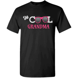 Cool Grandma Personalized Custom Printed T-shirts Design Black