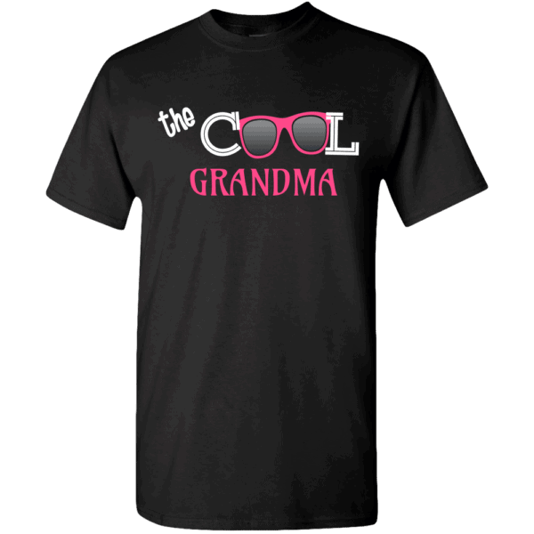 Cool Grandma Personalized Custom Printed T-shirts Design Black