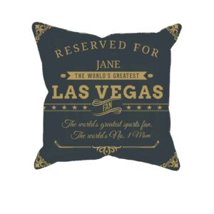Personalized Las Vegas Hockey Fan Printed Pillow Case