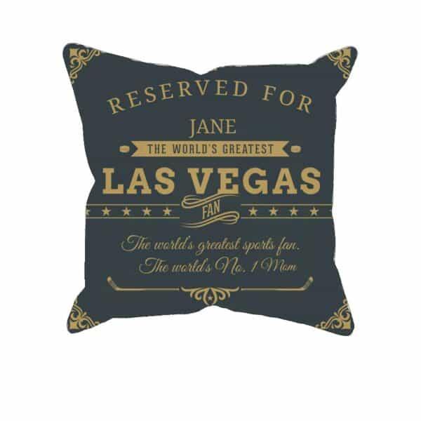 Personalized Las Vegas Hockey Fan Printed Pillow Case