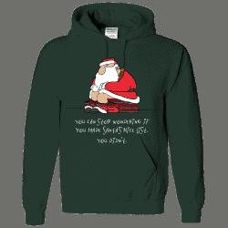 Bad Santa Custom Printed Hoodie