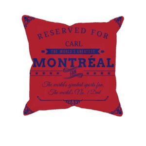 Personalized Printed Montreal Hockey Fan Pillow Case