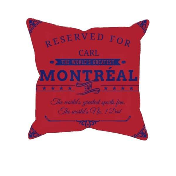 Personalized PrintedMontreal Hockey Fan Pillow Case