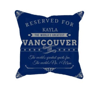 Personalized Vancouver Hockey Fan Pillow Case