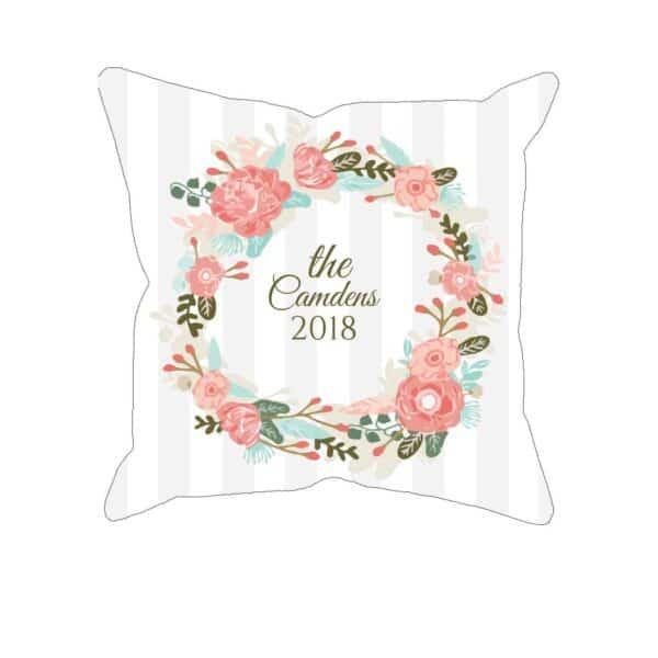 Personalized Christmas Wreath Custom Printed Pillowcases