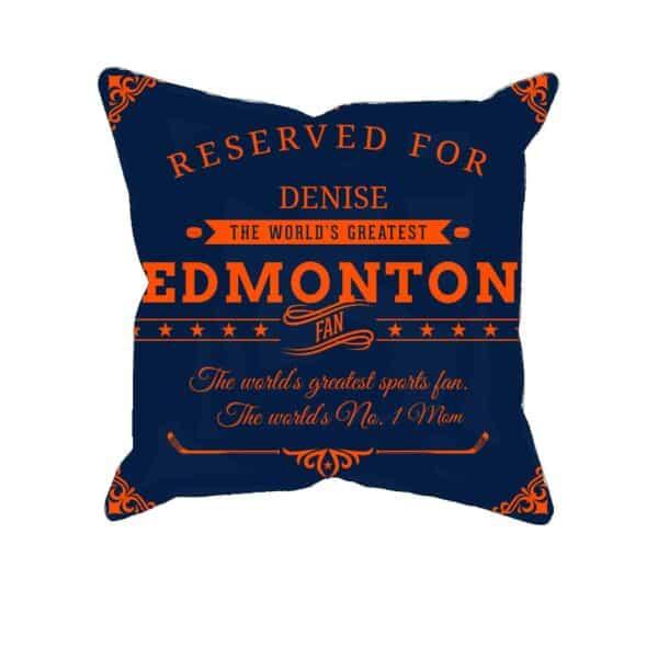 Personalized PrintedEdmonton Hockey Fan Pillow Case