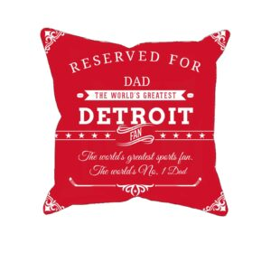 Personalized Printed Detroit Hockey Fan Pillow Case