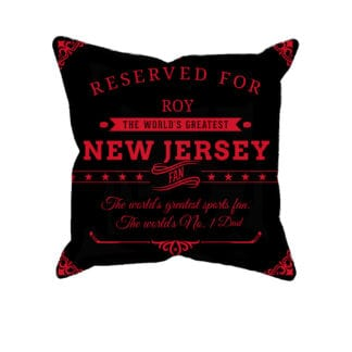 Personalized Printed New Jersey Hockey Fan Pillow Case