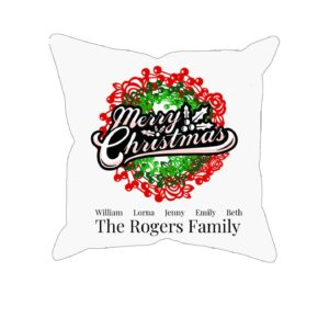Merry Christmas Personalized Custom Printed Pillowcases