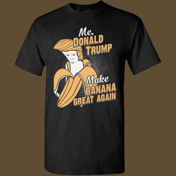Funny Banana Face of Donald Trump Hairdo Black