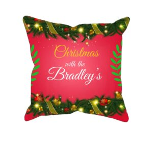 Christmas Bunting – Personalized Pillow Case