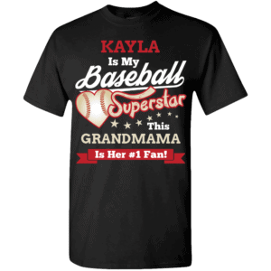 Baseball Superstar Girls - Personalized Custom Printed T-shirts
