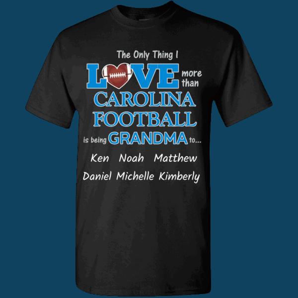 Love Carolina Personalized Custom Printed T-shirts Design Black