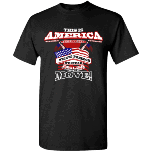 America Custom Printed T-shirts Design Black