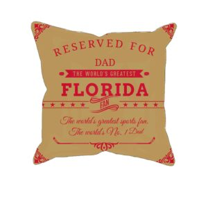 Personalized Printed Florida Hockey Fan Pillow Case