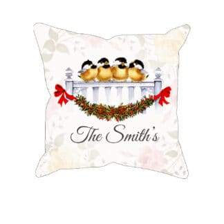 Personalized Watercolor Christmas Pillow Case