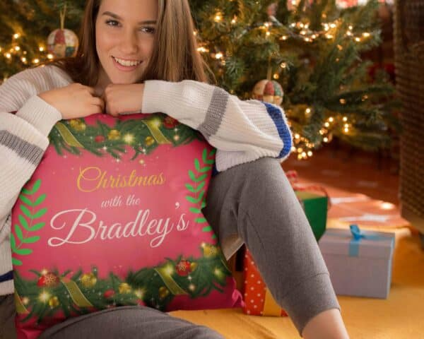 Christmas Bunting – Personalized Pillow Case View